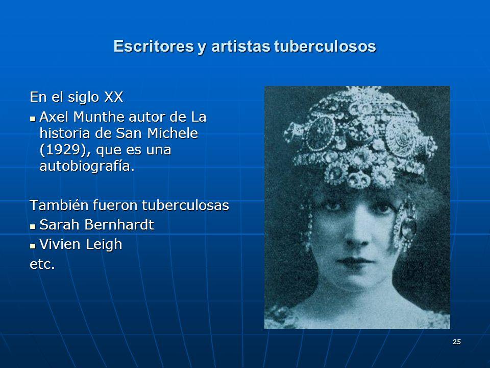 Escritores y artistas tuberculosos