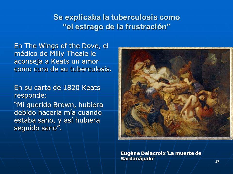 Se explicaba la tuberculosis como el estrago de la frustración