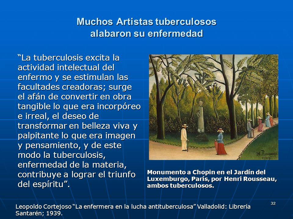 Muchos Artistas tuberculosos alabaron su enfermedad