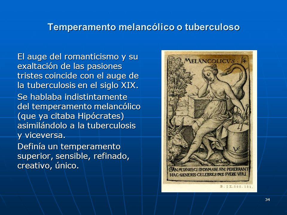 Temperamento melancólico o tuberculoso
