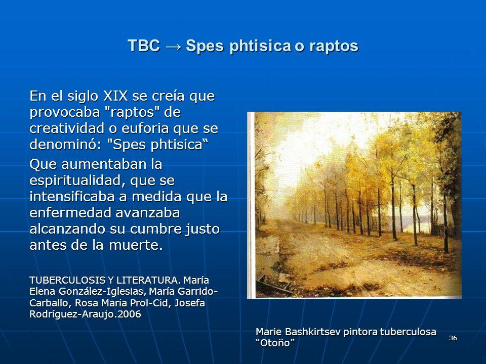 TBC → Spes phtisica o raptos