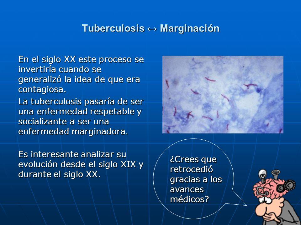 Tuberculosis ↔ Marginación