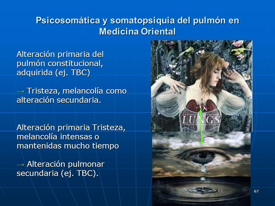 Psicosomática y somatopsiquia del pulmón en Medicina Oriental
