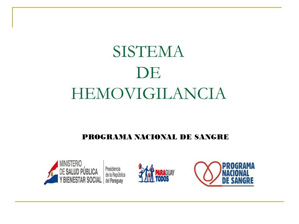 SISTEMA DE HEMOVIGILANCIA
