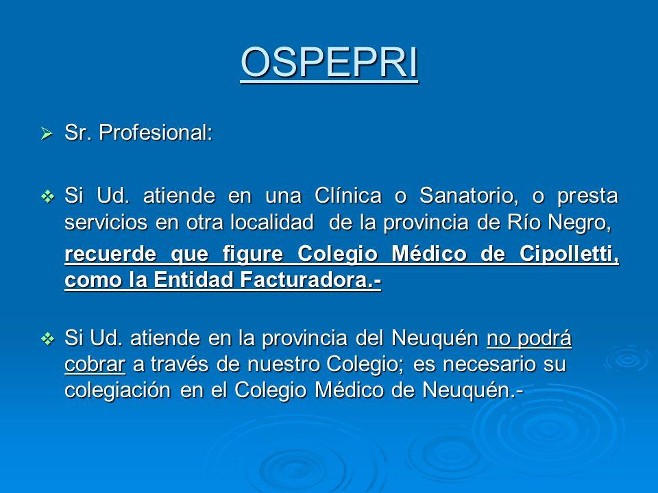 OSPEPRI Sr. Profesional: