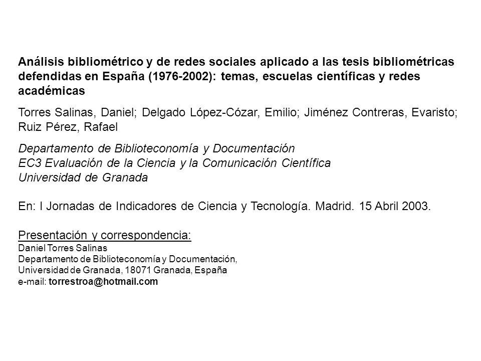 Departamento de Biblioteconomía y Documentación