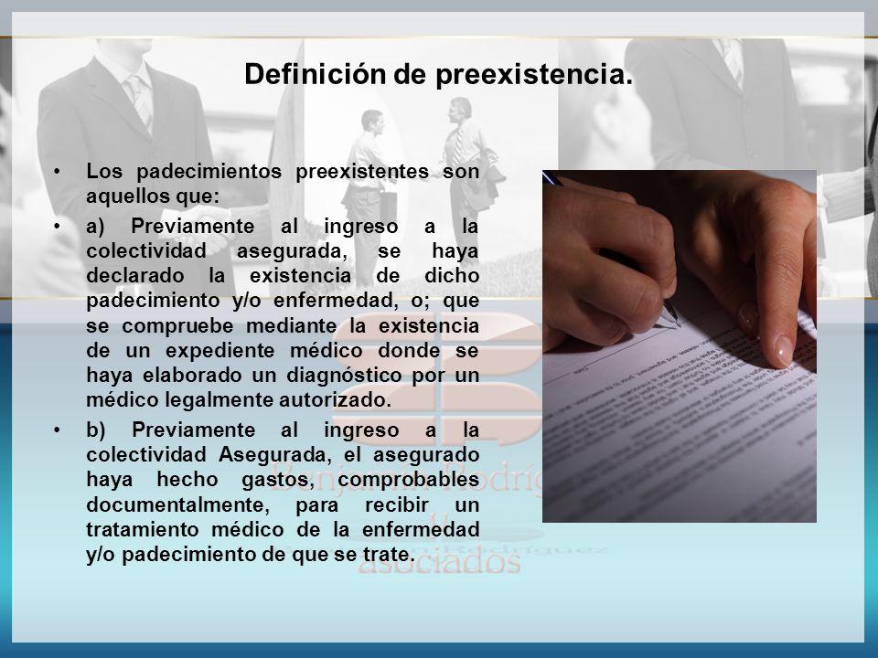 Definición de preexistencia.