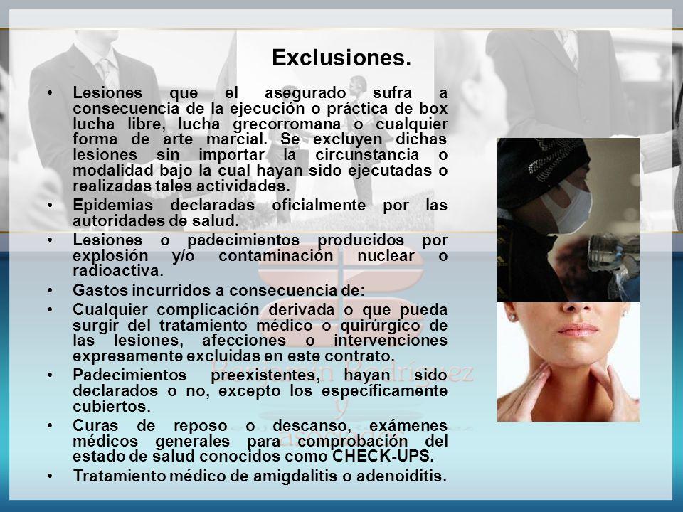 Exclusiones.