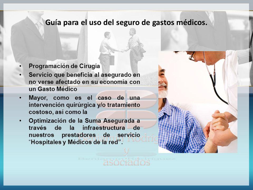 Guía para el uso del seguro de gastos médicos.