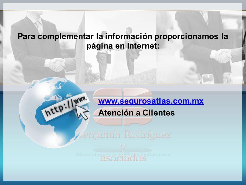 Para complementar la información proporcionamos la página en Internet: