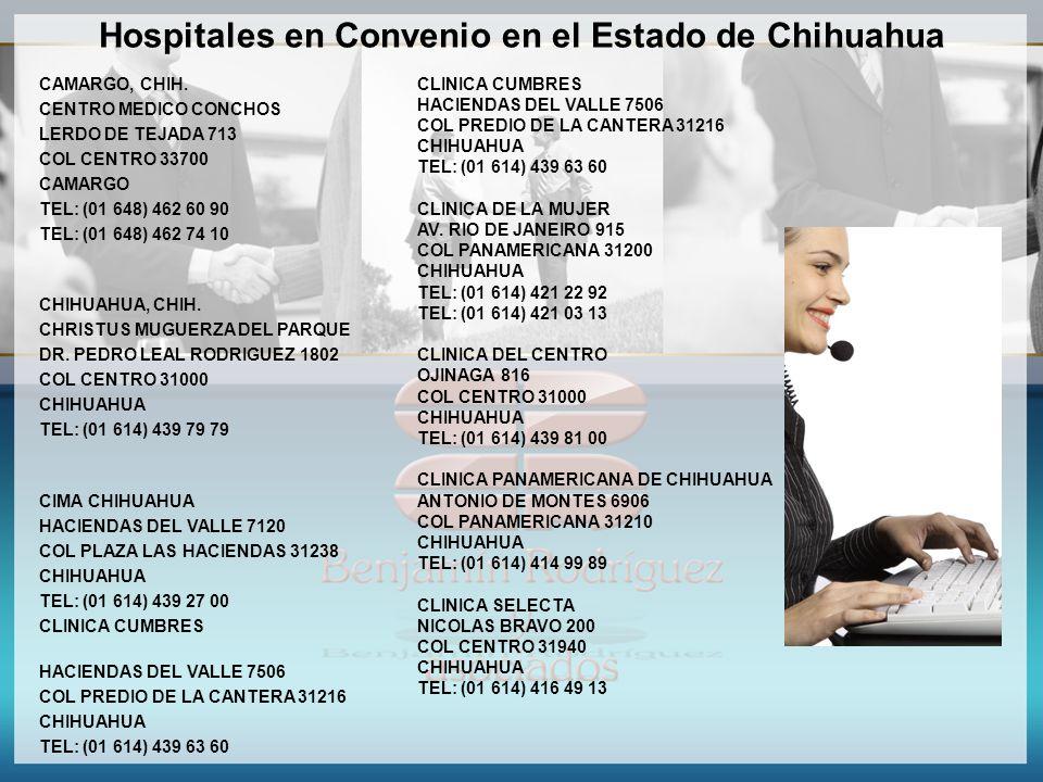 Hospitales en Convenio en el Estado de Chihuahua