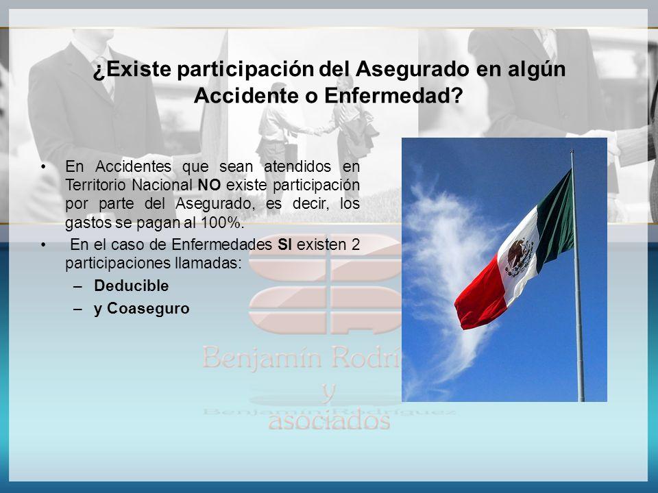 ¿Existe participación del Asegurado en algún Accidente o Enfermedad