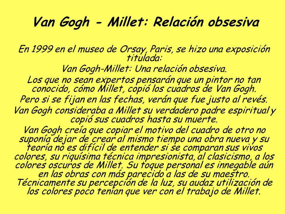 Van Gogh - Millet: Relación obsesiva