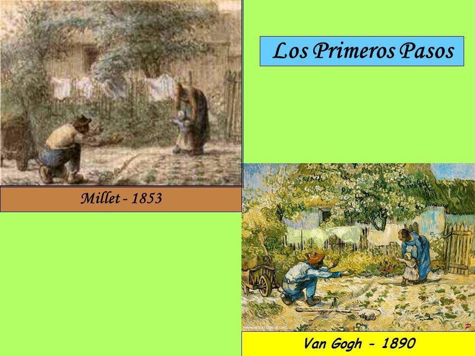 Los Primeros Pasos Millet - 1853 Van Gogh - 1890