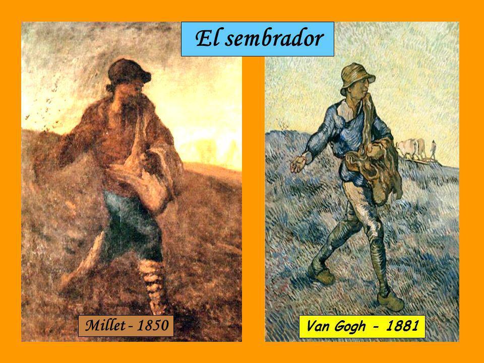 El sembrador Millet - 1850 Van Gogh - 1881