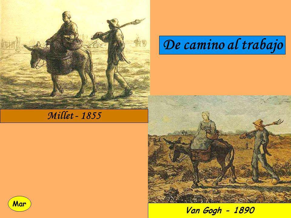 De camino al trabajo Millet - 1855 Mar Van Gogh - 1890