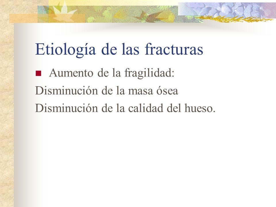 Etiología de las fracturas