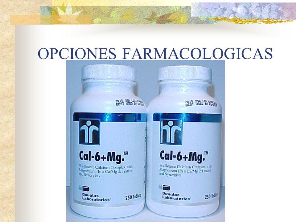 OPCIONES FARMACOLOGICAS