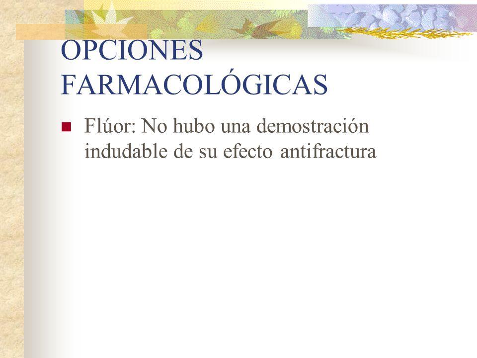 OPCIONES FARMACOLÓGICAS