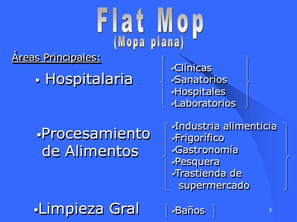 Flat Mop Hospitalaria Procesamiento de Alimentos Limpieza Gral