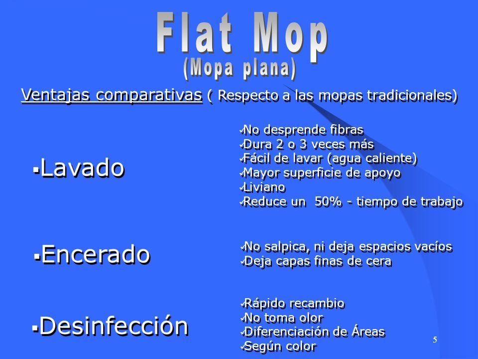 Flat Mop Lavado Encerado Desinfección (Mopa plana)
