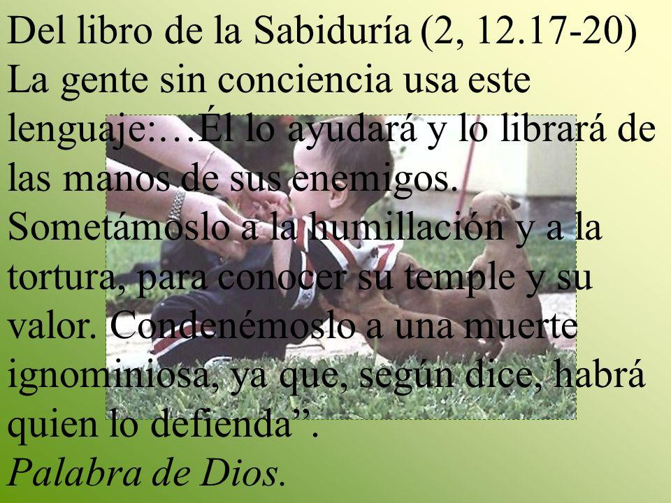 Del libro de la Sabiduría (2, 12.17-20)