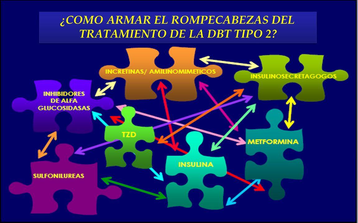 ¿COMO ARMAR EL ROMPECABEZAS DEL TRATAMIENTO DE LA DBT TIPO 2
