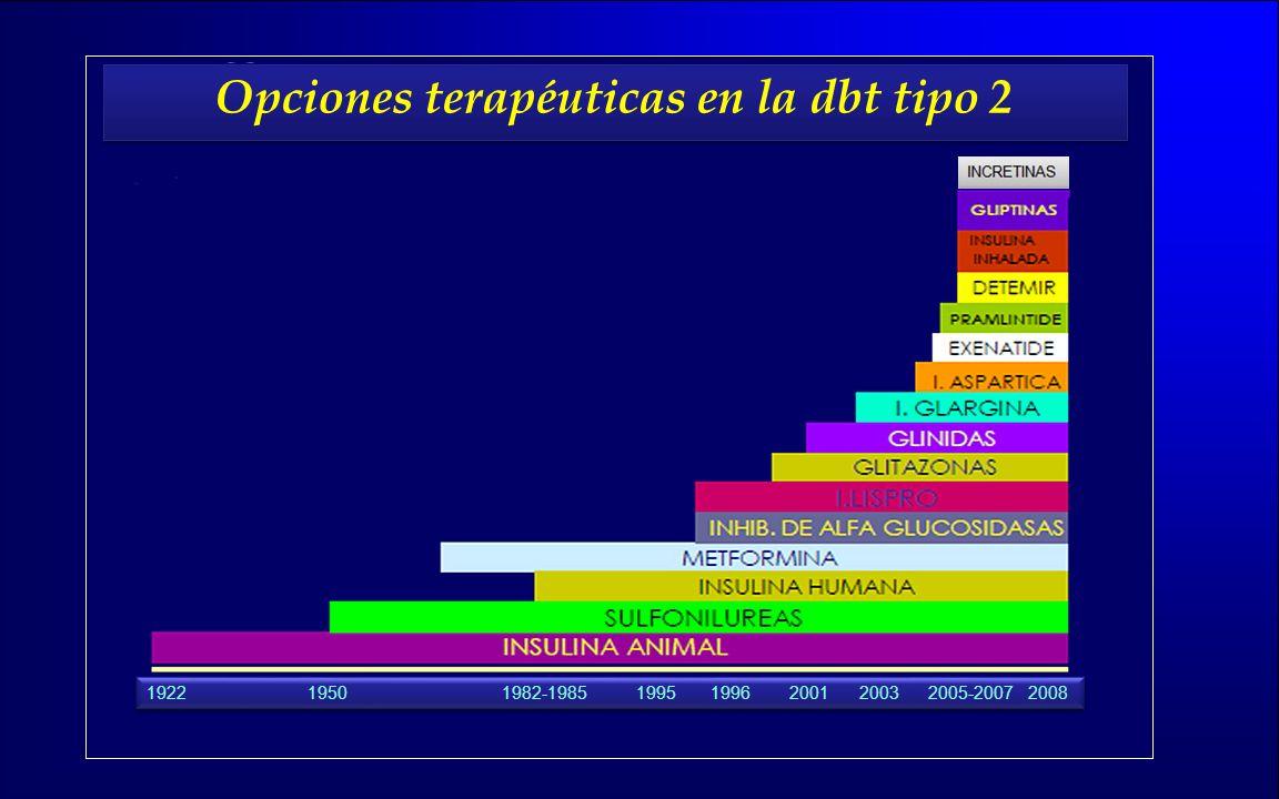 Opciones terapéuticas en la dbt tipo 2