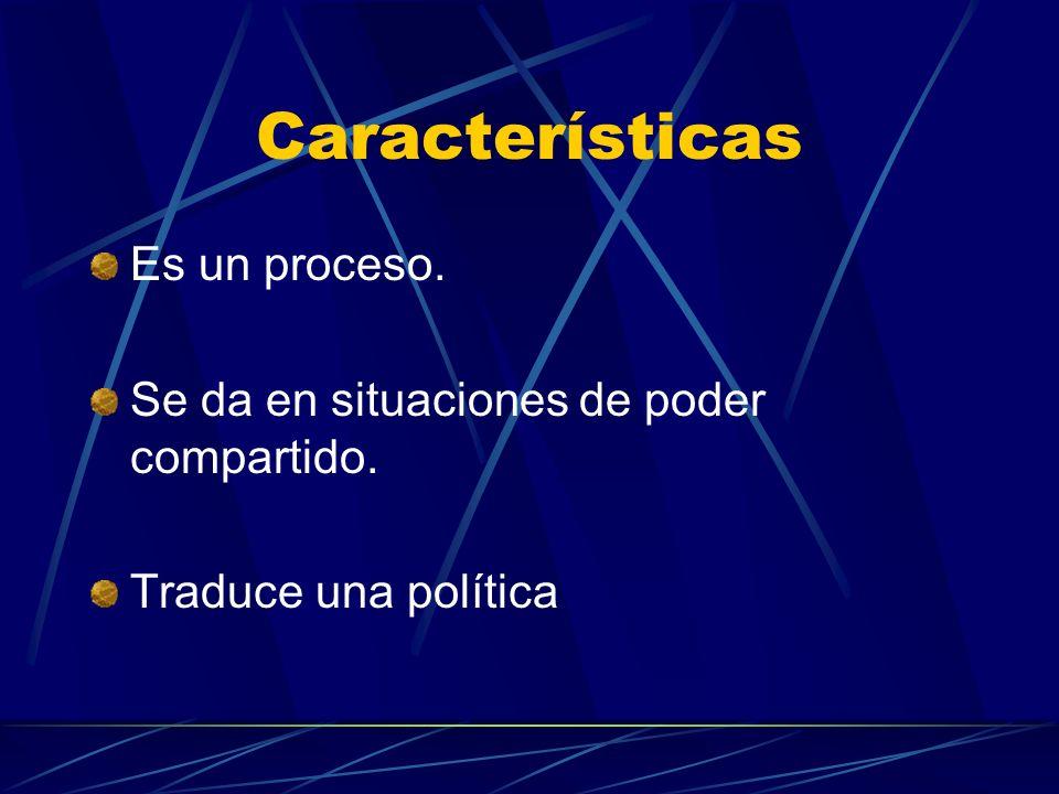 Características Es un proceso.