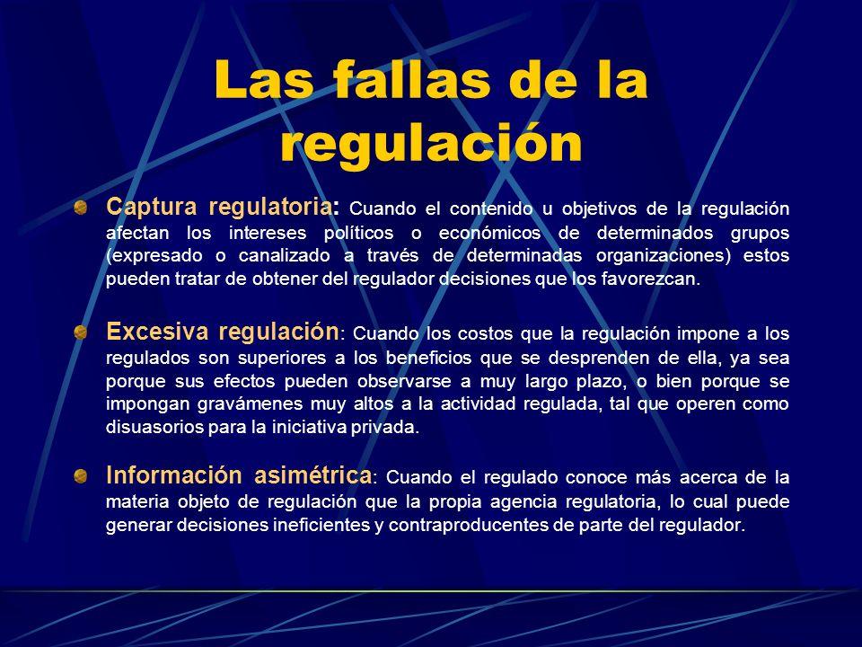 Las fallas de la regulación