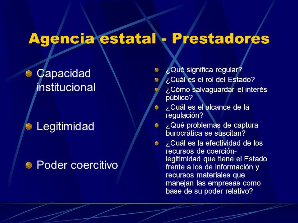 Agencia estatal - Prestadores