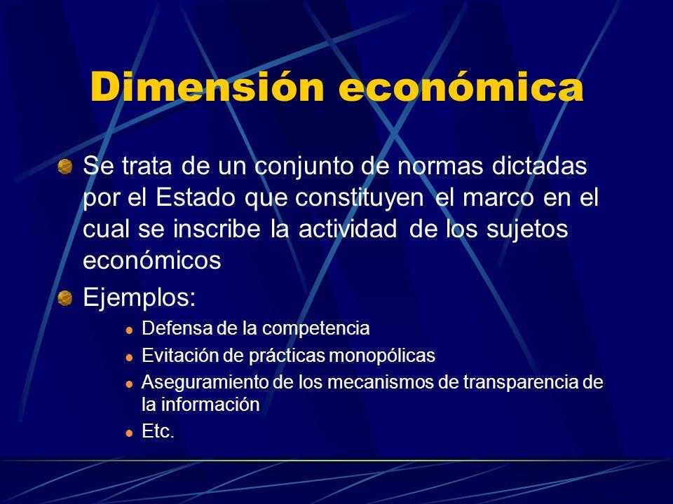 Dimensión económica