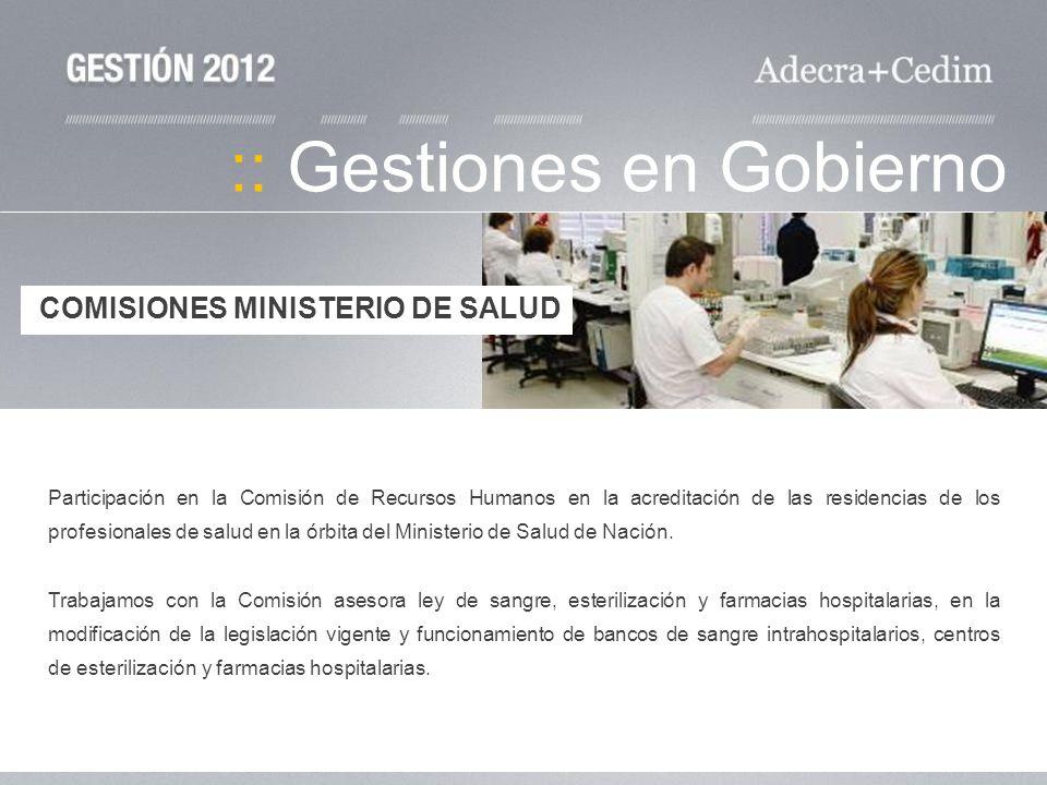 :: Gestiones en Gobierno