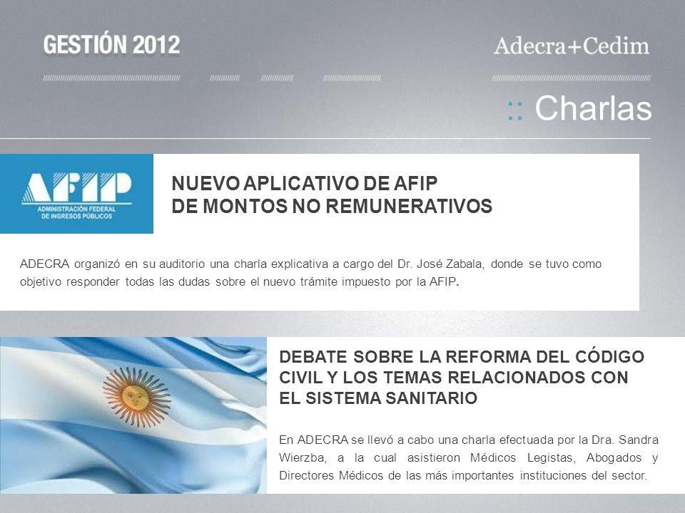 :: Charlas NUEVO APLICATIVO DE AFIP DE MONTOS NO REMUNERATIVOS