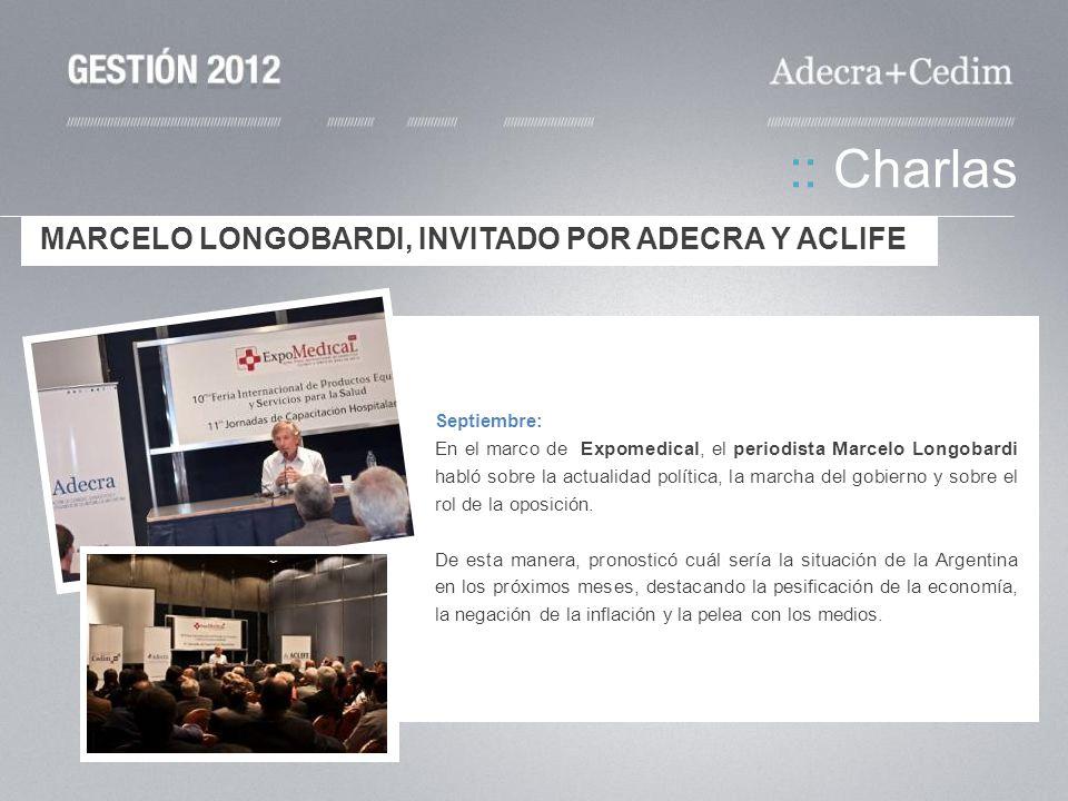 :: Charlas MARCELO LONGOBARDI, INVITADO POR ADECRA Y ACLIFE