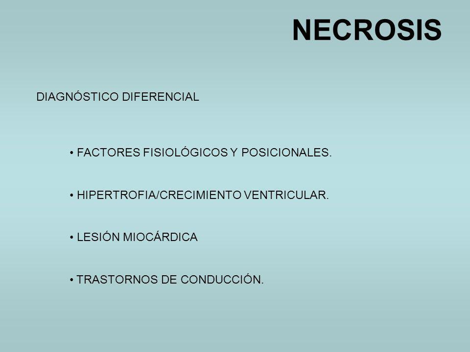 NECROSIS DIAGNÓSTICO DIFERENCIAL FACTORES FISIOLÓGICOS Y POSICIONALES.