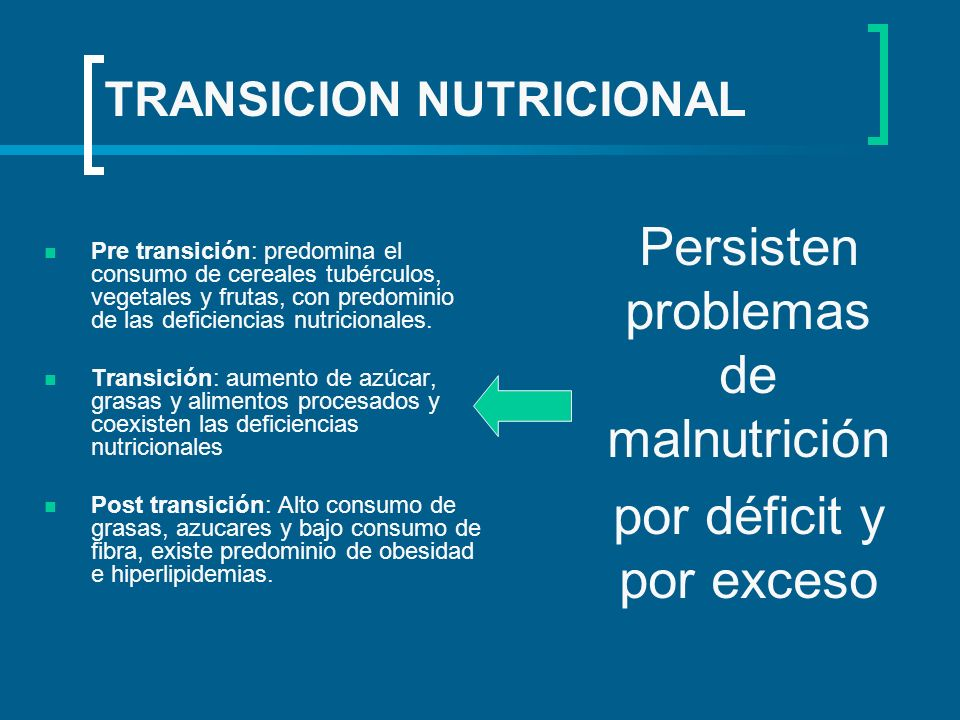 TRANSICION NUTRICIONAL