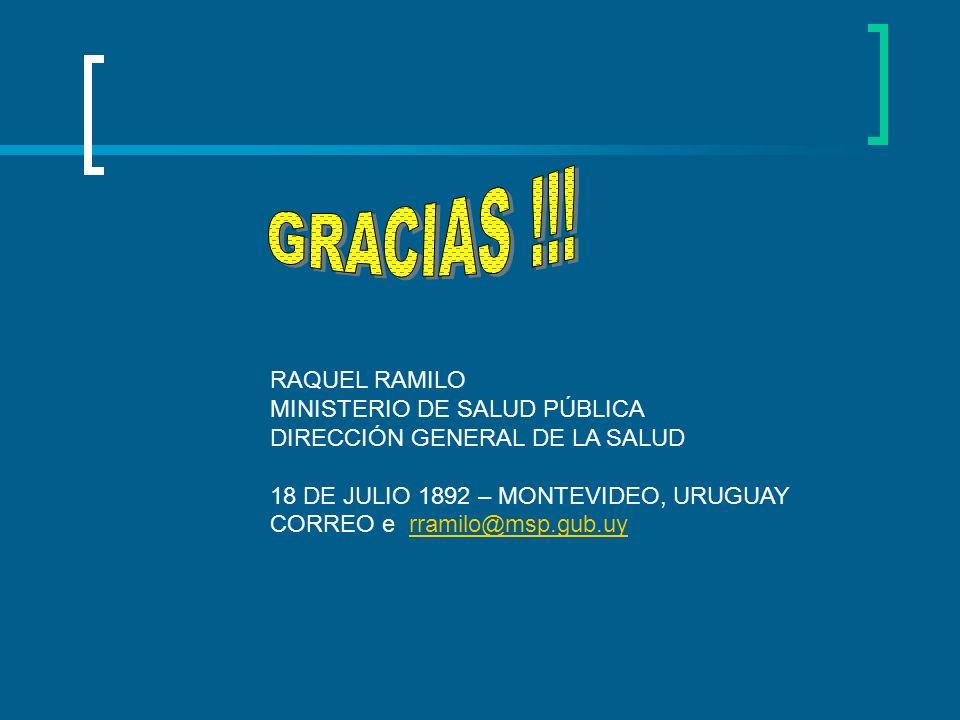 GRACIAS !!! RAQUEL RAMILO MINISTERIO DE SALUD PÚBLICA