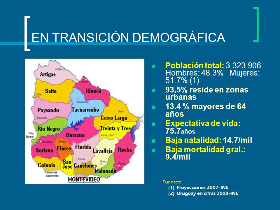EN TRANSICIÓN DEMOGRÁFICA