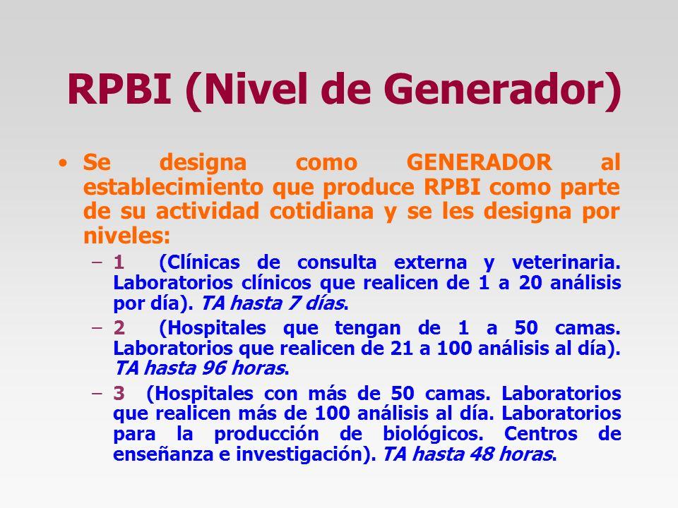 RPBI (Nivel de Generador)