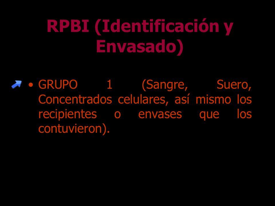 RPBI (Identificación y Envasado)