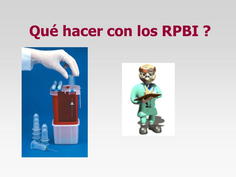 Qué hacer con los RPBI