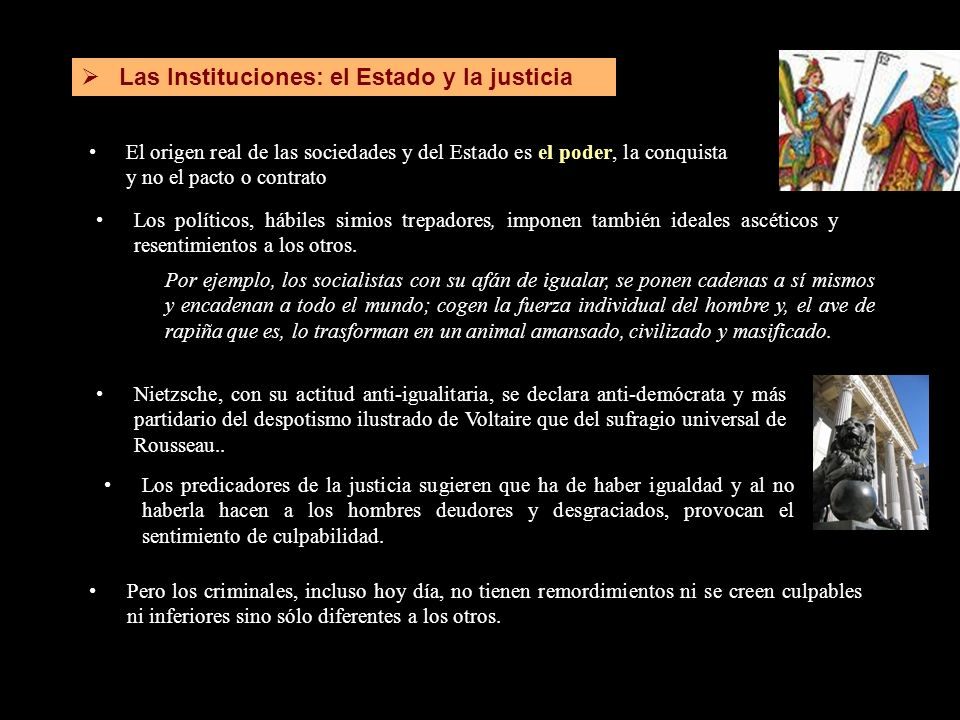 Las Instituciones: el Estado y la justicia