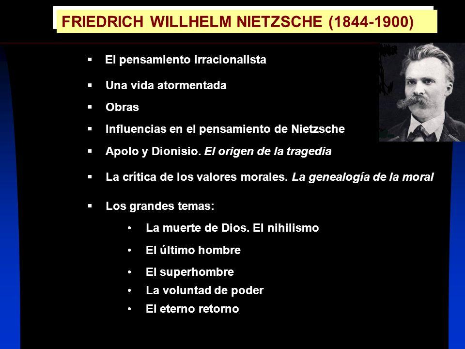 FRIEDRICH WILLHELM NIETZSCHE (1844-1900)