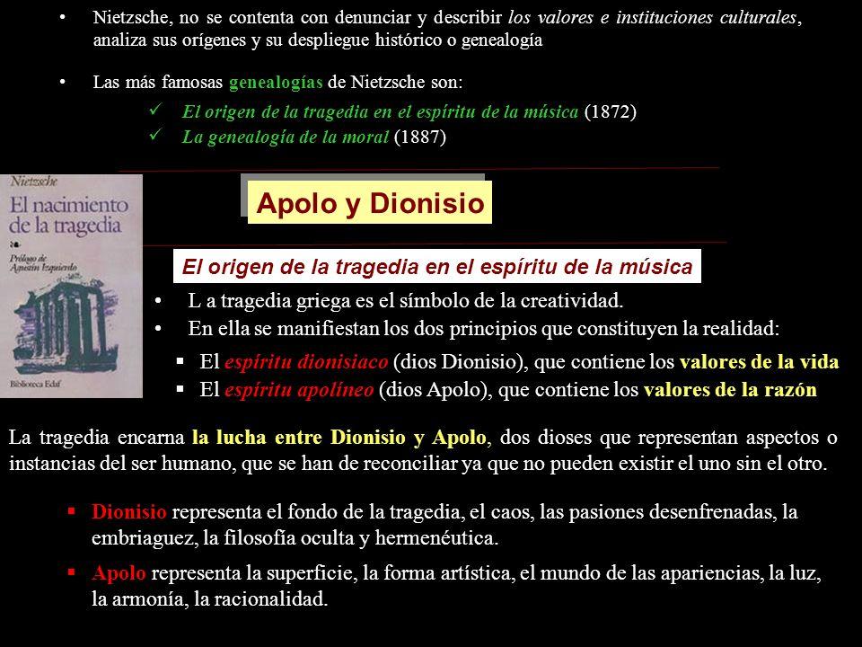 Apolo y Dionisio El origen de la tragedia en el espíritu de la música