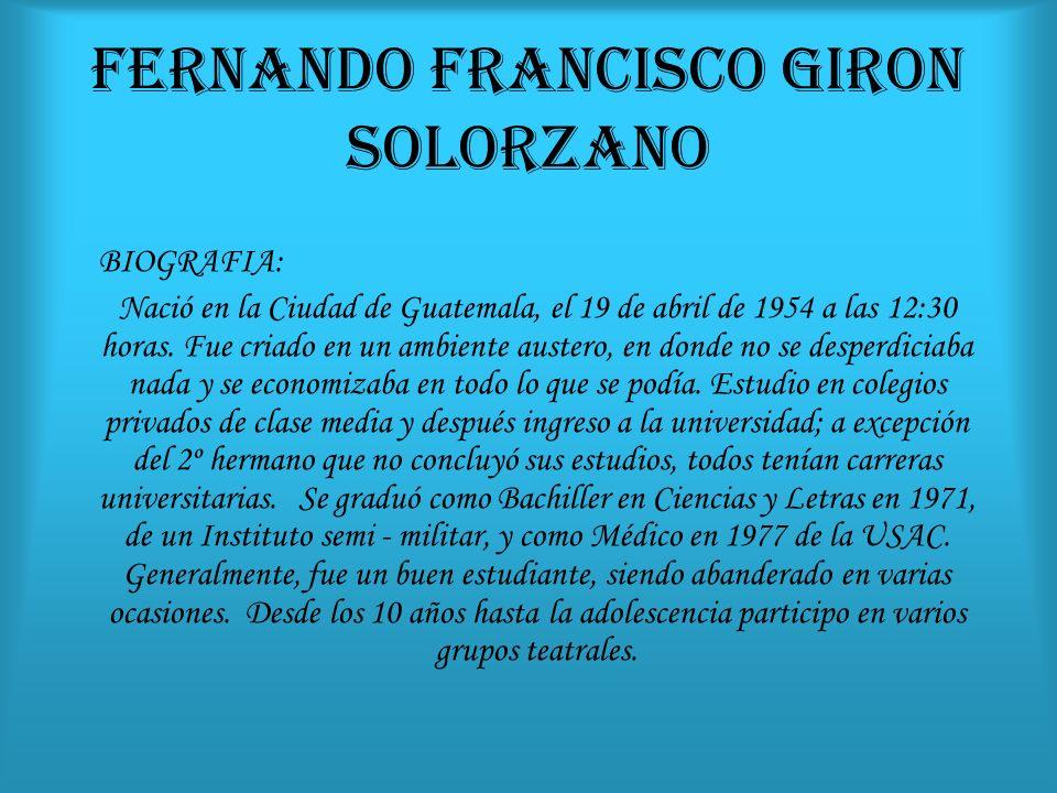 FERNANDO FRANCISCO GIRON SOLORZANO