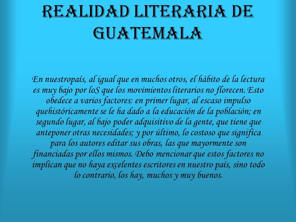 REALIDAD LITERARIA DE GUATEMALA