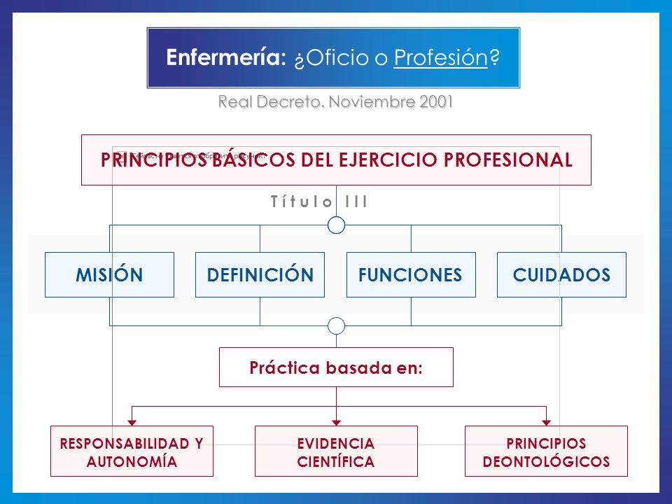 Enfermería: ¿Oficio o Profesión