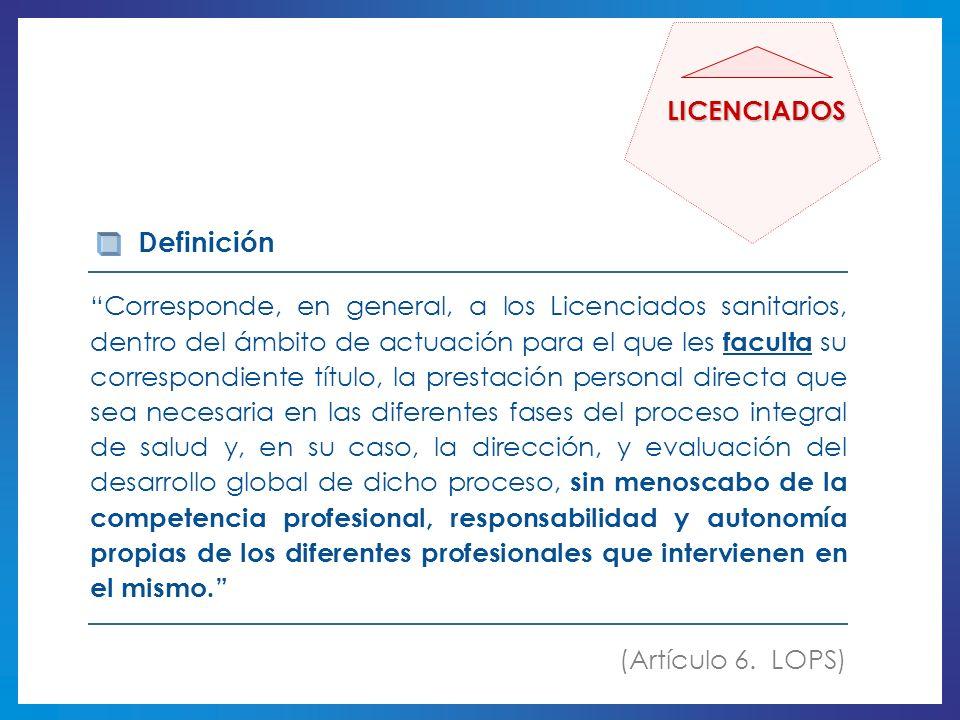Definición LICENCIADOS