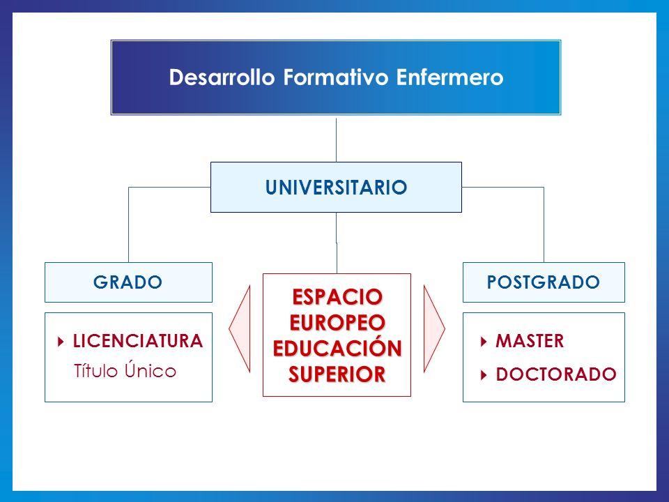 Desarrollo Formativo Enfermero ESPACIO EUROPEO EDUCACIÓN SUPERIOR